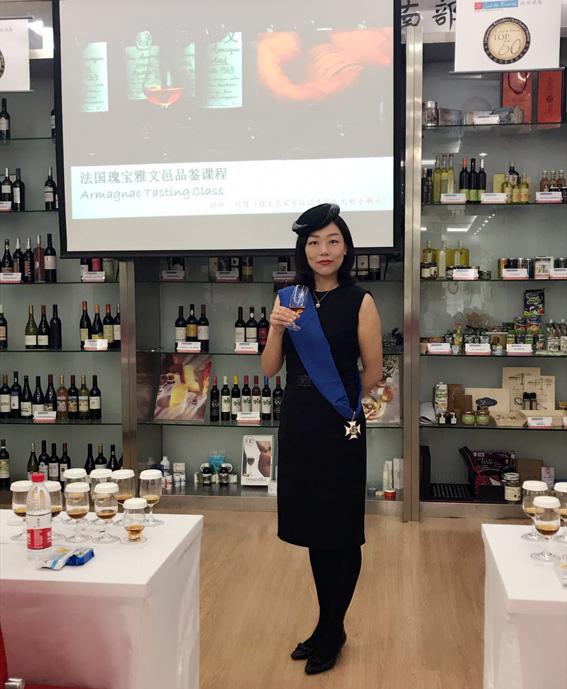 Sophie Liu, prof d'armagnac à Shanghaï
