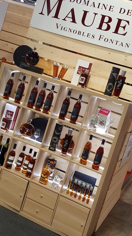 Le stand des Armagnacs Fontan au salon Vinisud 2018