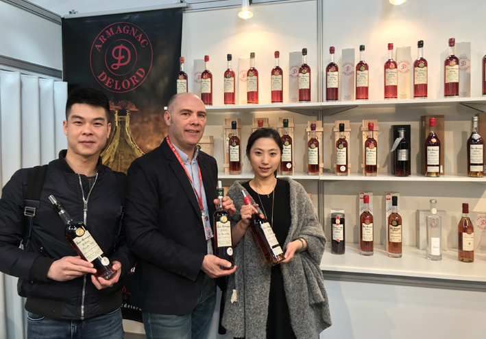 Le stand des armagnacs Delord - Prowein 2018