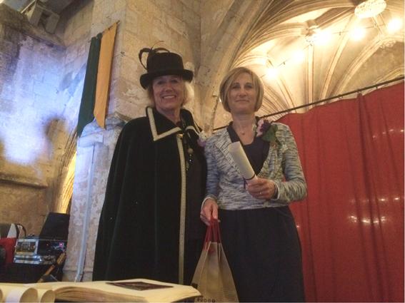 Michèle Darroussat et sa marraine Maïté Grassa