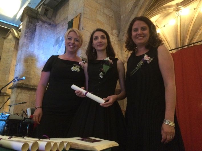 Sandra Lemaréchal, Amandine Lalanne et Cyrielle Marin
