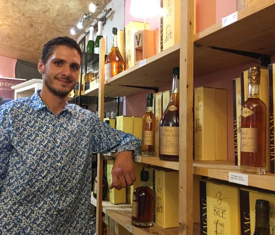 Thibault Della Vedove propose les armagnacs du domaine de Bilé
